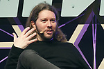 Garrett Camp Founder of Expa and Uber, speaks during the Slush Tokyo 2017 event on March 29, 2017, Tokyo, Japan. The 2 day event features outstanding entrepreneurs sharing their stories and showcasing their products and services in Tokyo Big Sight. (Photo by Rodrigo Reyes Marin/AFLO)