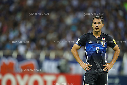 Shinji Okazaki (JPN),<br /> SEPTEMBER 1, 2016 - Football / Soccer :<br /> FIFA World Cup Russia 2018 Asian Qualifiers Final Round Group B match between Japan 1-2 United Arab Emirates at Saitama Stadium 2002 in Saitama, Japan. (Photo by Kenzaburo Matsuoka/AFLO)