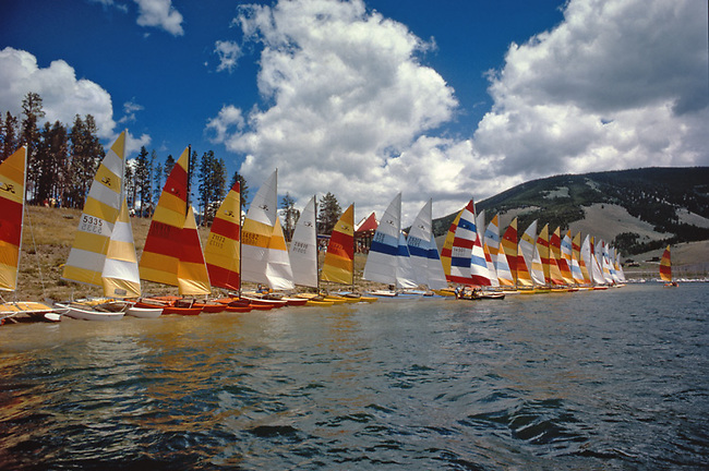 Hobie Cats on Colorado Lake