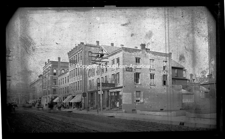 Frederick Stone negative. <br />Crane Art Company East Main St. looking West.