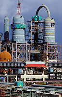 Petro-chemical plant under construction.  Reactor structure.  South Africa.