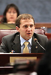 Nevada Assemblman Elliot Anderson, D-Las Vegas, works in committee Friday, May 27, 2011, at the Legislature in Carson City, Nev. .Photo by Cathleen Allison