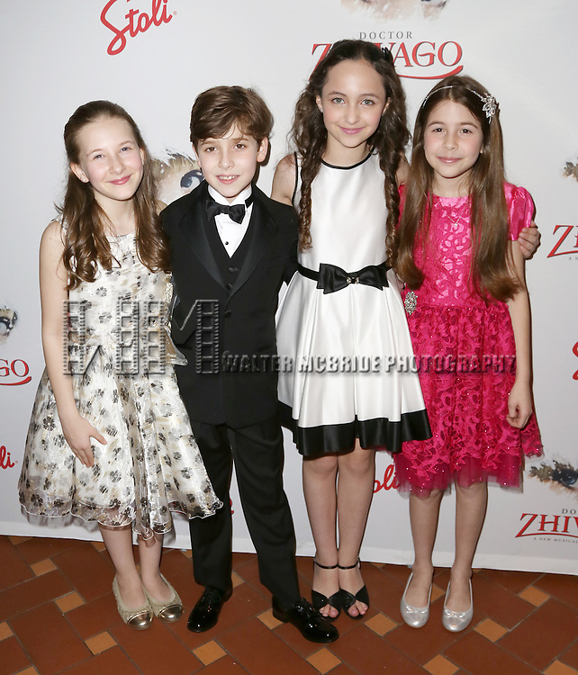 Sophia Gennusa, Jonah Halperin, Ashley Brooke and Ava-Riley Miles attends the Broadway Opening Night After Party for 'Doctor Zhivago' at Rockefeller Center on April 21, 2015 in New York City.