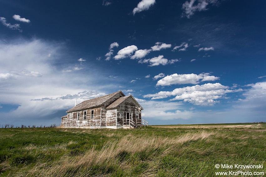 Old abandoned school house near Hemingford, NE