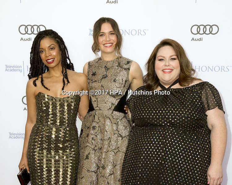 LOS ANGELES - JUN 8:  Susan Kelechi Watson, Mandy Moore, Chrissy Metz at the 10th Annual Television Academy Honors at the Montage Hotel on June 8, 2017 in Beverly Hills, CA