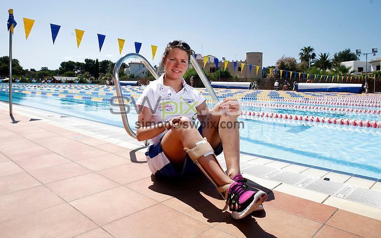 PICTURE BY VAUGHN RIDLEY/SWPIX.COM - Disability Swimming - Warm Weather Training Camp - Best Swim Centre, Colonia Sant Jordi, Mallorca, Spain - 23/05/12 - Liz Johnson.