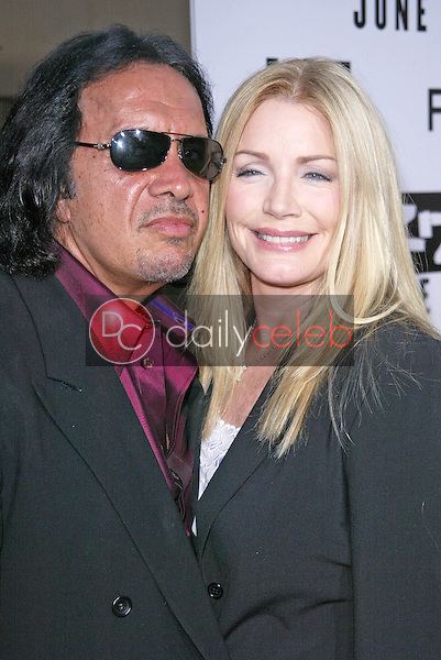 Gene Simmons and Shannon Tweed<br /> at the &quot;Rize&quot; Los Angeles Premiere, The Egyptian Theatre, Hollywood, CA 06-21-05<br /> Jason Kirk/DailyCeleb.com 818-249-4998