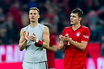 09.11.2019, Allianz Arena, Muenchen, GER, 1.FBL,  FC Bayern Muenchen vs. Borussia Dortmund, DFL regulations prohibit any use of photographs as image sequences and/or quasi-video, im Bild Manuel Neuer (FCB #1) Benjamin Pavard (FCB #5) <br /> <br />  Foto © nordphoto / Straubmeier