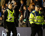 20.12.2019 Hibs v Rangers: Police with bottle thrown at Borna Barisic