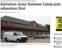 The Salvation Army of Dane County has a summer day camp with a STEM program (science, technology, engineering, and math). Their building on Darbo Drive is pictured here on Friday, June 22, 2018 | Wisconsin State Journal article, front page Local on 6/25/18, and online at https://host.madison.com/wsj/news/local/education/local_schools/salvation-army-summer-camp-puts-education-first/article_99ff760a-6673-5c09-b46d-0991e5c51013.html