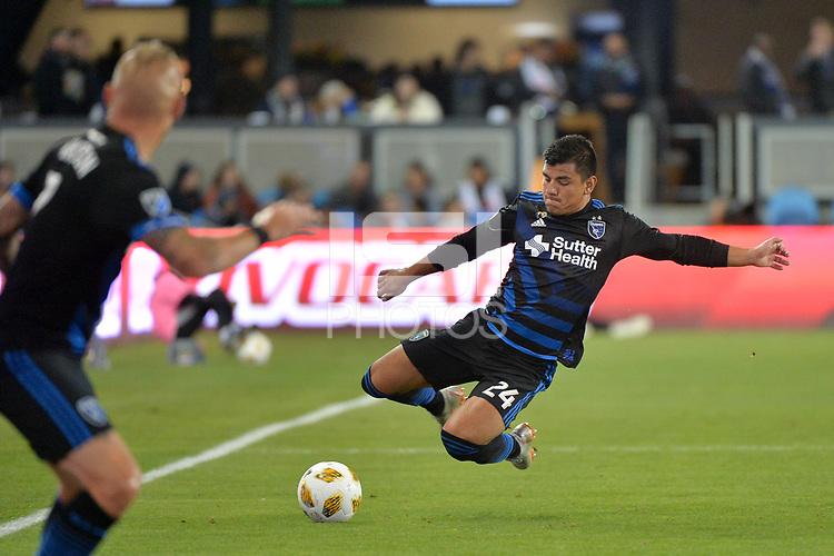 San Jose, CA - Saturday September 15, 2018: Nick Lima during a Major League Soccer (MLS) match between the San Jose Earthquakes and Sporting Kansas City at Avaya Stadium.