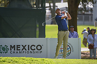 Webb Simpson (USA) watches his tee shot on 7 during round 1 of the World Golf Championships, Mexico, Club De Golf Chapultepec, Mexico City, Mexico. 2/21/2019.<br /> Picture: Golffile | Ken Murray<br /> <br /> <br /> All photo usage must carry mandatory copyright credit (© Golffile | Ken Murray)