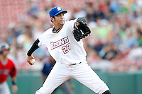 July 28, 2009:  Pitcher Nelson Figueroa of the Buffalo Bisons delivers a pitch during a game at Coca-Cola Field in Buffalo, NY.  Buffalo is the International League Triple-A affiliate of the New York Mets.  Photo By Mike Janes/Four Seam Images