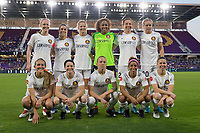Orlando, FL - Saturday March 24, 2018: Utah Royals FC Starting XI during a regular season National Women's Soccer League (NWSL) match between the Orlando Pride and the Utah Royals FC at Orlando City Stadium. The game ended in a 1-1 draw.
