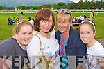 Amie, Evelyn, Ann and Jesse Griffin Glenbeigh having a laugh at the Killarney races on Tuesday