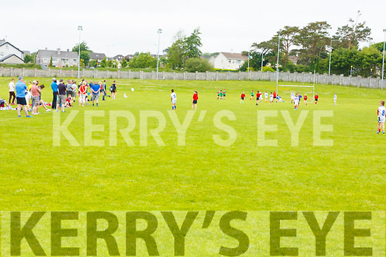 Enjoying the Community GAA Football games in Na Gaeil on Monday.