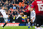 Marouane Fellaini of Manchester United (R) battles for the ball with Ruben Nunes Vezo of Valencia CF (L) during the UEFA Champions League 2018-19 match between Valencia CF and Manchester United at Estadio de Mestalla on December 12 2018 in Valencia, Spain. Photo by Maria Jose Segovia Carmona / Power Sport Images