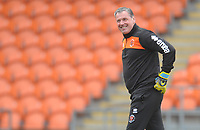 Blackpool Goalkeeper Coach Dave Timmins during the pre-match warm-up <br /> <br /> Photographer Kevin Barnes/CameraSport<br /> <br /> The EFL Sky Bet League One - Blackpool v Oxford United - Saturday 23rd February 2019 - Bloomfield Road - Blackpool<br /> <br /> World Copyright © 2019 CameraSport. All rights reserved. 43 Linden Ave. Countesthorpe. Leicester. England. LE8 5PG - Tel: +44 (0) 116 277 4147 - admin@camerasport.com - www.camerasport.com