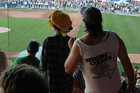 Fans dancing to the Music. Furthur Band at McCoy Stadium, Pawtucket RI on 5 July 2012