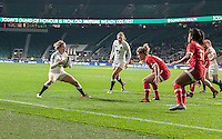 Danielle Waterman in action, England Women v Canada Women in an Old Mutual Wealth Series, Autumn International match at Twickenham Stadium, London, England, on 26th November 2016. Full time score 39-6