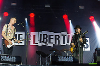 CARHAIX-PLOUGUER, FRANCE - JULY 16, 2016: Singers Pete Doherty &amp;  Carl Barat of The Libertines perform at the Festival des Vieilles Charrues, Carhaix-Plouguer, France<br /> Picture: Kristina Afanasyeva / Featureflash