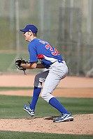 Graham Hicks #32 of the Chicago Cubs participates in spring training workouts at the Cubs complex on March 6, 2011  in Mesa, Arizona. .Photo by:  Bill Mitchell/Four Seam Images.