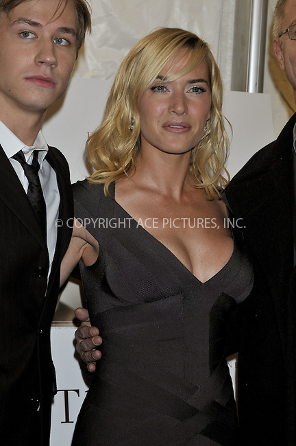 WWW.ACEPIXS.COM . . . . .  ....December 3, 2008. New York City.....Actors David Kross and Kate Winslet attend 'The Reader' premiere held at the Ziegfeld Theatre December 3, 2008 in New York City.  ......Please byline: AJ Sokalner - ACEPIXS.COM.... *** ***..Ace Pictures, Inc:  ..Philip Vaughan (646) 769 0430..e-mail: info@acepixs.com..web: http://www.acepixs.com