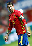 Spain's Sergio Ramos during FIFA World Cup 2018 Qualifying Round match. March 24,2017.(ALTERPHOTOS/Acero)