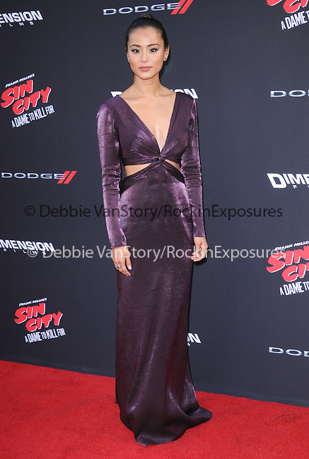 Jamie Chung attends The Dimension Film's L.A. Premiere of FRANK MILLER'S SIN CITY: A DAME TO KILL FOR held at  The TCL Chinese Theatre in Hollywood, California on August  19,2014                                                                               © 2014 Hollywood Press Agency