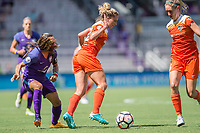 Orlando, FL - Saturday June 24, 2017: Marta, Camille Levin, Morgan Brian during a regular season National Women's Soccer League (NWSL) match between the Orlando Pride and the Houston Dash at Orlando City Stadium.