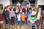 Deirdre Lyne celebrated her 30th birthday with family and friends at the Royal Hotel in Valentia on Friday night last Deirdre pictured here front 5th from the left.
