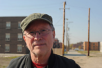 """Bill Ayers, a professor of education, stands for a portrait on election day after voting for Barack Obama near the University of Illinois Chicago, UIC, campus in Chicago, Illinois on November 4, 2008.  Ayers' legacy of activism with the group the Weather Underground in the late 1960s and life as a fugitive from the FBI came to the fore during the 2008 presidential campaign after it was revealed that Democratic presidential nominee Barack Obama had once attended a political fundraiser at Ayers' house and Republican vice-presidential candidate accused Obama of """"palling around with terrorists""""."""