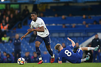 Japhet Tanganga of Tottenham Hotspur in action as Chelsea's Luke McCormick loses his footing during Chelsea Under-23 vs Tottenham Hotspur Under-23, Premier League 2 Football at Stamford Bridge on 13th April 2018