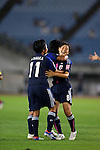 (R-L) Hikaru Naomoto, Ayaka Michigami, Mina Tanaka (JPN), AUGUST 19, 2012 - Football / Soccer : Hikaru Naomoto of Japan celebrates her goal during the FIFA U-20 Women's World Cup Japan 2012 Group A match between Japan 4-1 Mexico at Miyagi Stadium in Miyagi, Japan. (Photo by Toshihiro Kitagawa/AFLO)