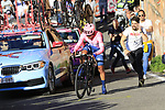 Jonathan Caicedo (ECU) EF Education First drops a chain on the San Luca climb during Stage 1 of the 2019 Giro d'Italia, an individual time trial running 8km from Bologna to the Sanctuary of San Luca, Bologna, Italy. 11th May 2019.<br /> Picture: Eoin Clarke | Cyclefile<br /> <br /> All photos usage must carry mandatory copyright credit (© Cyclefile | Eoin Clarke)