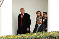 United States President Donald J. Trump walks to the Oval Office with President of Ecuador Lenín Moreno, his wife Rocio Gonzales De Moreno, and First lady Melania Trump at the White House in Washington D.C., U.S. on Wednesday, February 12, 2020.  <br /> <br /> Credit: Stefani Reynolds / CNP/AdMedia