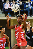 7th September 2017, Te Rauparaha Arena, Wellington, New Zealand; Taini Jamison Netball Trophy; New Zealand versus England;   Englands captain Ama Agbeze takes a pass