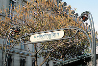 Hector Guimard: Cite Metro Entrance, Paris.