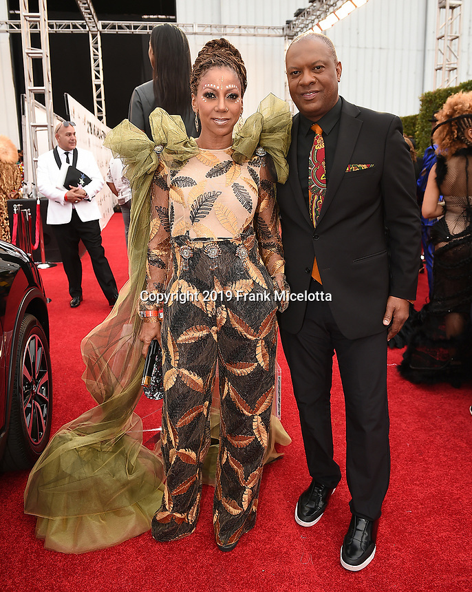 SANTA MONICA - JUNE 1: Holly Robinson Peete and Rodney Peete attend the 3rd Annual Wearable Art Gala at Barker Hangar on June 1, 2019 in Santa Monica, California. (Photo by Frank Micelotta/PictureGroup)