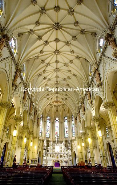 WATERBURY, CT. 01 March 2013-030613SV05-The interior of St. Patrick Church in Waterbury Wednesday..Steven Valenti Republican-American