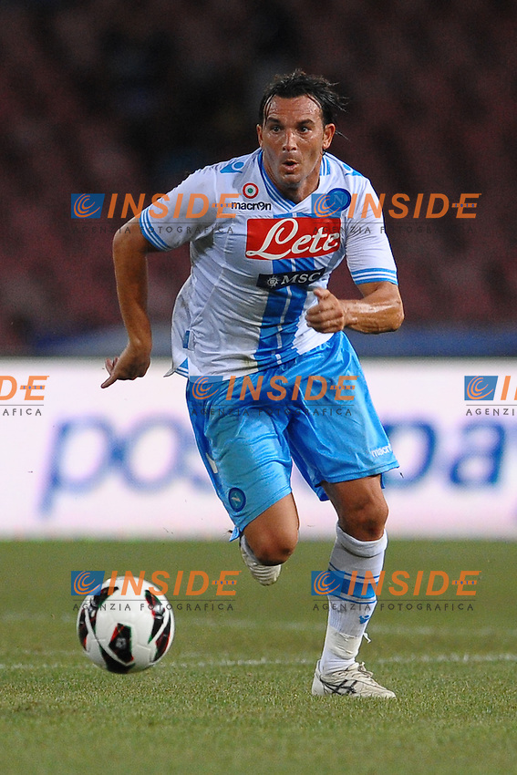 Salvatore Aronica (Napoli).Napoli, Stadio San Paolo  01/8/2012.Football Calcio 2012 / 2013 .Amichevole / Friendly match .Napoli vs Bordeaux 2-0.Foto Insidefoto / Antonietta Baldassarre.