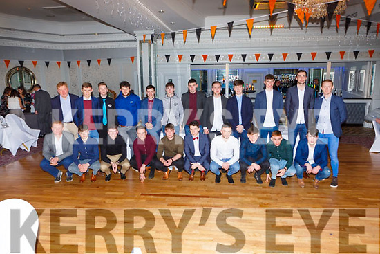 The Dr Crokes  u21 team received their medals  for winning the East Kerry Championship at the Dr Crokes GAA social in the Dromhall Hotel on Friday night