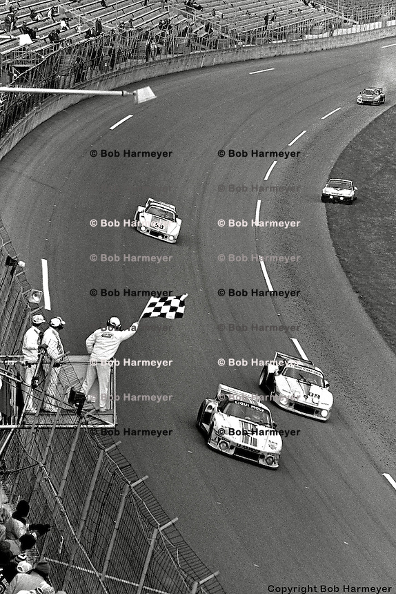 Legendary team, legendary drivers, legendary event -- Joest Racing drivers Reinhold Joest, Rolf Stommelen and Volkert Merl took the checkered flag with a 33 lap margin of victory in the 1980 24 Hours of Daytona.