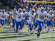 Annapolis, MD - October 7, 2017: Air Force Falcons runs out before the game between Air Force and Navy at  Navy-Marine Corps Memorial Stadium in Annapolis, MD.   (Photo by Elliott Brown/Media Images International)