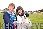 Iris and Claire Conway and their dog Molly (Tralee) at the Dog Show during the Fenit Seabreeze Festival on Sunday.