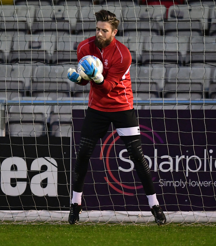 Lincoln City's Josh Vickers during the pre-match warm-up<br /> <br /> Photographer Andrew Vaughan/CameraSport<br /> <br /> The EFL Sky Bet League Two - Tuesday 26th September 2017 - Lincoln City v Barnet - Sincil Bank - Lincoln<br /> <br /> World Copyright &copy; 2017 CameraSport. All rights reserved. 43 Linden Ave. Countesthorpe. Leicester. England. LE8 5PG - Tel: +44 (0) 116 277 4147 - admin@camerasport.com - www.camerasport.com