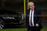 Patrick McLoughlin MP (Chancellor of the Duchy of Lancaster).<br /> <br /> London, 12/06/2017. Today, Theresa May's reshuffled Cabinet met at 10 Downing Street after the General Election of the 8 June 2017. Philip Hammond MP - not present in the photos - was confirmed as Chancellor of the Exchequer. <br /> After 5 years of the Coalition Government (Conservatives &amp; Liberal Democrats) led by the Conservative Party leader David Cameron, and one year of David Cameron's Government (Who resigned after the Brexit victory at the EU Referendum held in 2016), British people voted in the following way: the Conservative Party gained 318 seats (42.4% - 13,667,213 votes &ndash; 12 seats less than 2015), Labour Party 262 seats (40,0% - 12,874,985 votes &ndash; 30 seats more then 2015); Scottish National Party, SNP 35 seats (3,0% - 977,569 votes &ndash; 21 seats less than 2015); Liberal Democrats 12 seats (7,4% - 2,371,772 votes &ndash; 4 seats more than 2015); Democratic Unionist Party 10 seats (0,9% - 292,316 votes &ndash; 2 seats more than 2015); Sinn Fein 7 seats (0,8% - 238,915 votes &ndash; 3 seats more than 2015); Plaid Cymru 4 seats (0,5% - 164,466 votes &ndash; 1 seat more than 2015); Green Party 1 seat (1,6% - 525,371votes &ndash; Same seat of 2015); UKIP 0 seat (1.8% - 593,852 votes); others 1 seat. <br /> The definitive turn out of the election was 68.7%, 2% higher than the 2015.<br /> <br /> For more info about the election result click here: http://bbc.in/2qVyNRd &amp; http://bit.ly/2s9ob51<br /> <br /> For more info about the Cabinet Ministers click here: https://goo.gl/wmRYRd