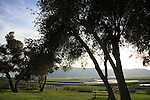 Israel, Issachar Heights. A memorial garden by Givat Hamore-Ramot Issachar scenic road