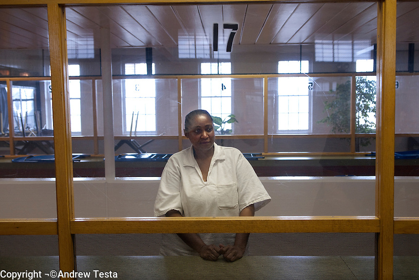 USA. Gatesville. 13th November 2007..Linda Carty in the visitation room at the Mountview Unit penitentiary, where she is on death row..©Andrew Testa/Panos Pictures