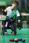 Hidetaka Sugimura (JPN),<br /> SEPTEMBER , 2016 - Boccia : <br /> Mixed Team BC1/BC2 Semi-Final<br /> at Carioca Arena 2<br /> during the Rio 2016 Paralympic Games in Rio de Janeiro, Brazil.<br /> (Photo by Shingo Ito/AFLO)
